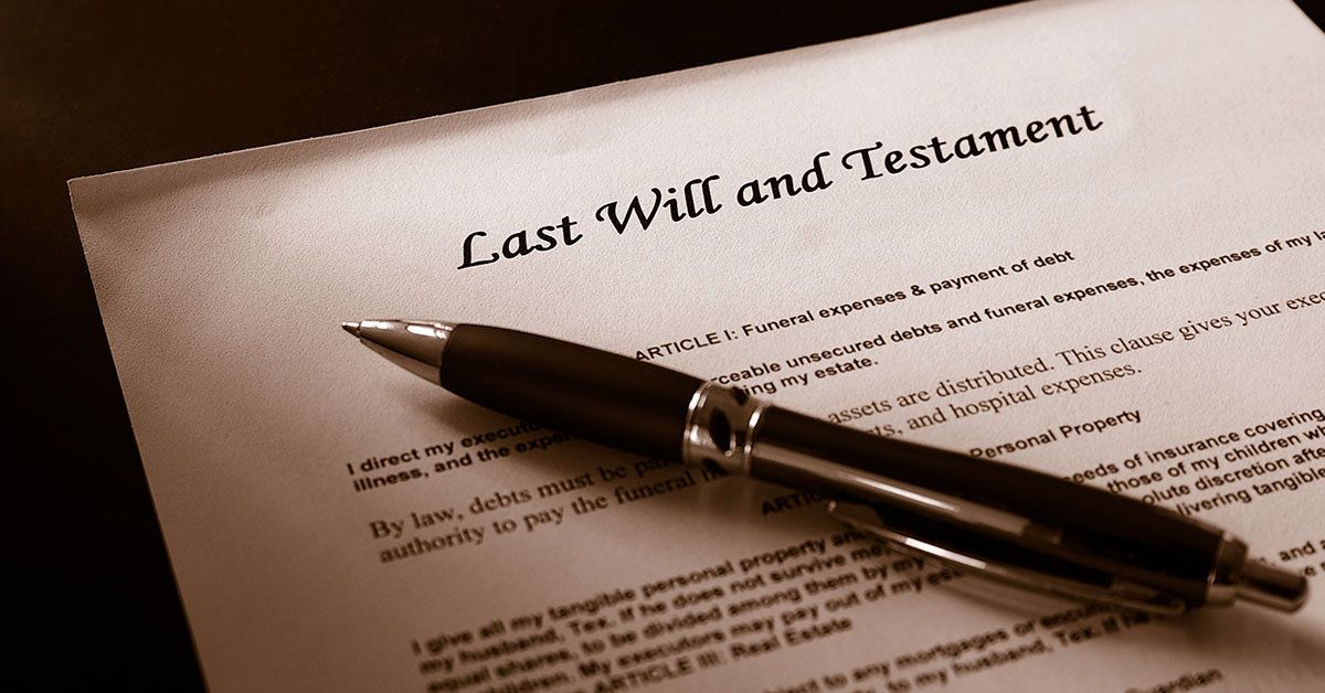 Last will and testament, probate administration law